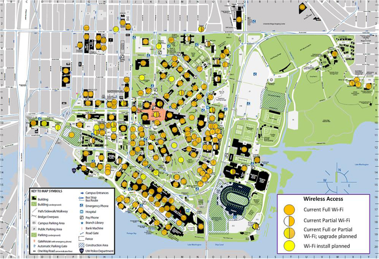 Lander Campus Map.Wi Fi Service Locations It Connect