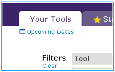 Work on the Your Tools tab