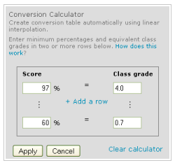 Convert Scores to Class Grades | IT Connect