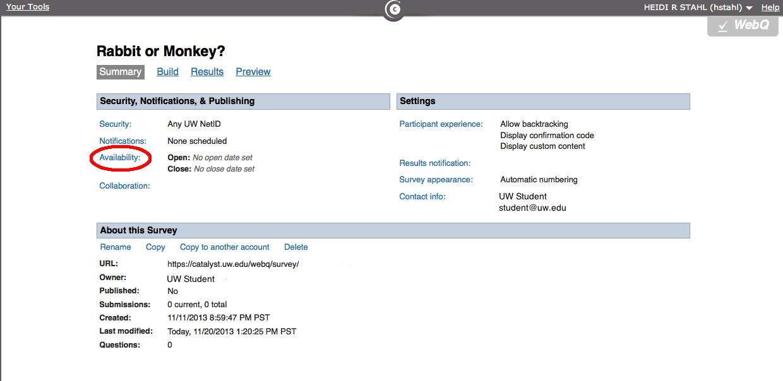 WebQ Availability