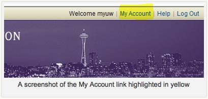 MyUW Account