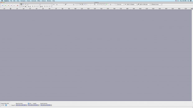 Audacity Initial View