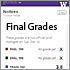 Final grades showing on MyUW Mobile