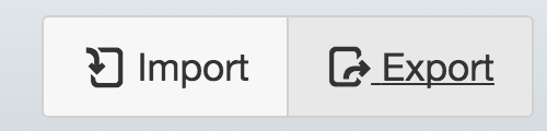 Canvas Gradebook Import Export button
