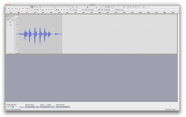 audacity 2 basic recording