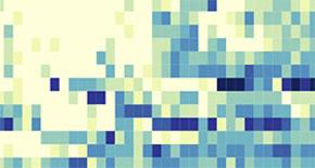 blurry pixels symbolizing data
