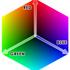 color cube graphic