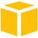 Amazon Web Services gold cube icon