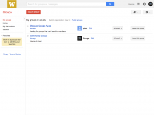 Google Groups Discussions