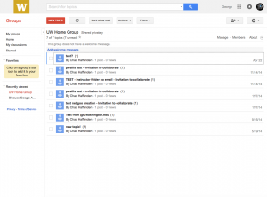 Google Groups Topics