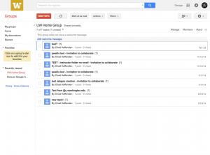 Google Groups Topics