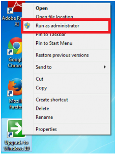 Run as Administrator Win 10