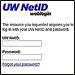 UW NetID login page