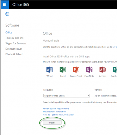Install Office applications
