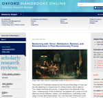 Screen shot of Oxford Handbooks Web page