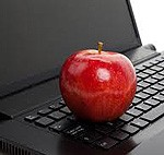 apple on computer