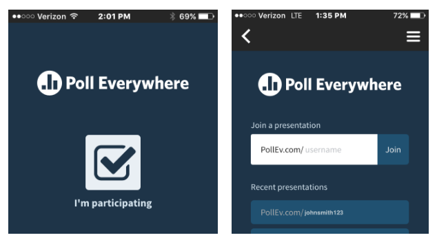 Poll Everywhere participation window