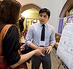 students at UW undergraduate research symposium