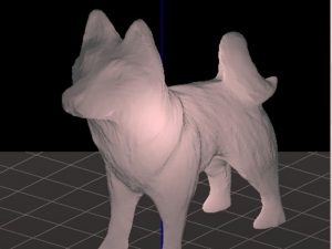Pre-selected 3D printable item: husky