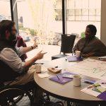 Participants of institute in discussion
