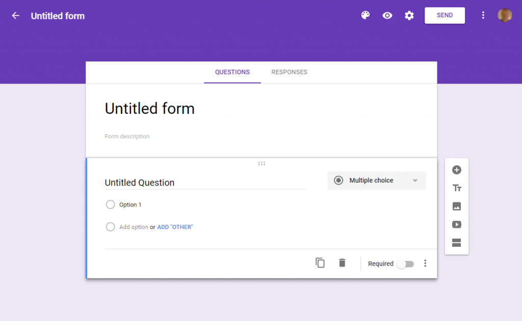 image of untitled Google form