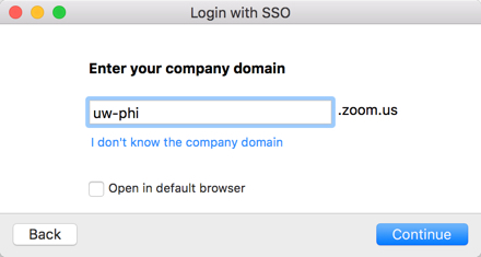"HIPAA log in, enter ""uw-phi"" for the company domain"