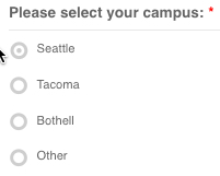 Select your campus