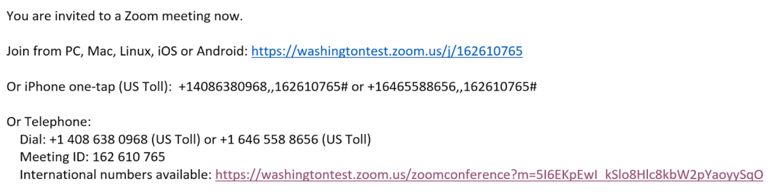 image of text that appears in an email invitation from Zoom meeting host