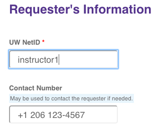 Two fields under requestor info