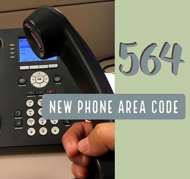 new phone code