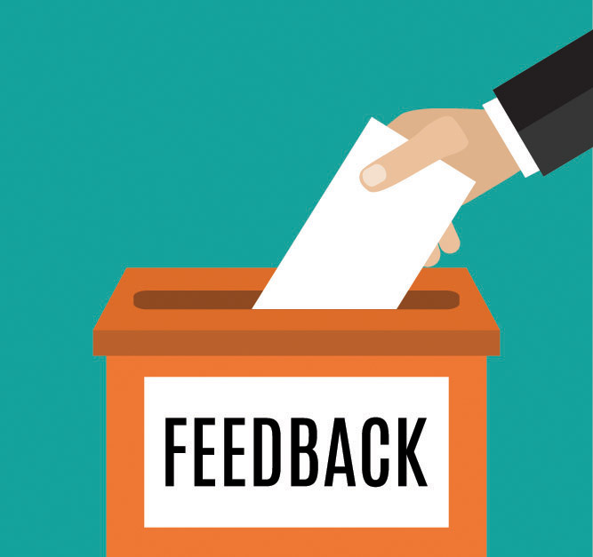 Suggestion being put into feedback box