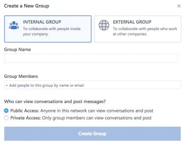 Yammer Click Internal Group
