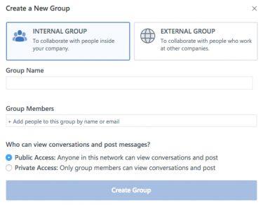 Yammer Click Internal Group
