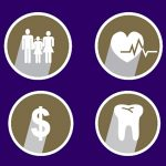icons for family, health, money, and teeth