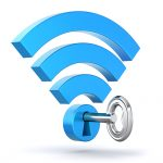 Wi-Fi secured with a key and lock