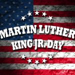 Flag with Martin Luther King as headline