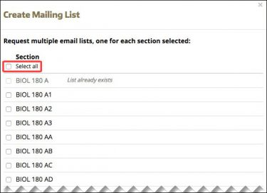 Request multiple email lists screen shot
