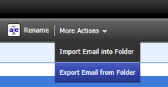 Export Email from Folder