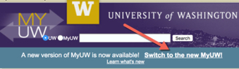 Switch to New MyUW