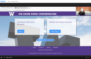 Watch a recording of the webinar 'Introduction to UW Zoom' -- recorded January 10, 2018.