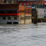 Flooding in downtown Snohomish in 2009