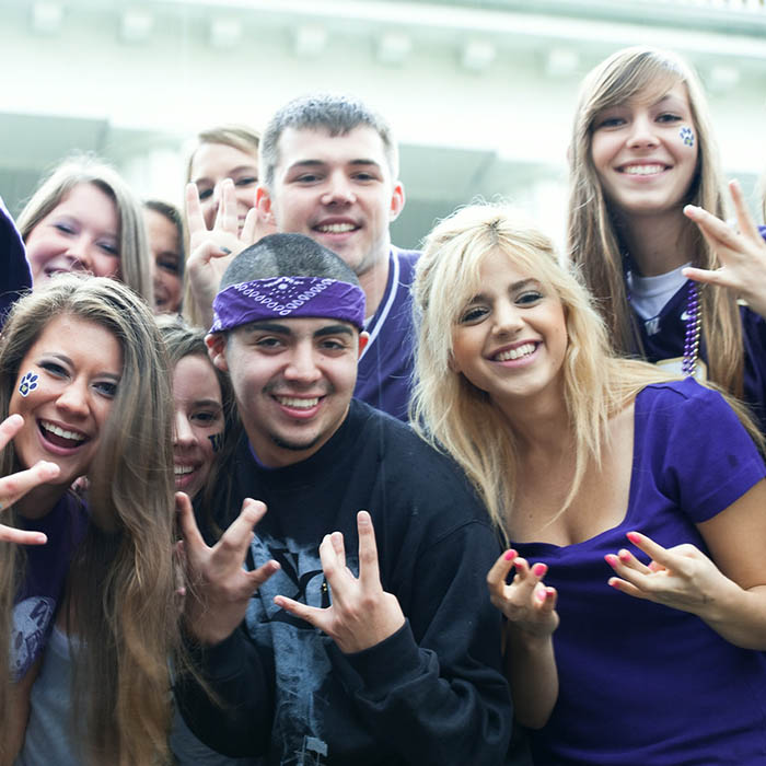 UW students showing spirit