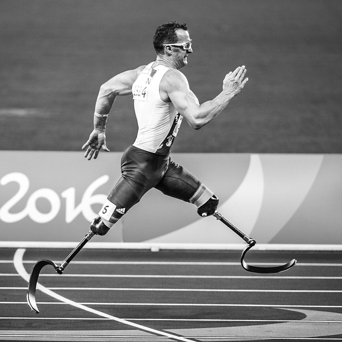 Runner at the Rio 2016 Paralympic Games in Brazil
