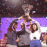 Imagine cup winners lift a trophy together