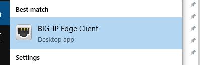 BIG-IP Edge Client icon
