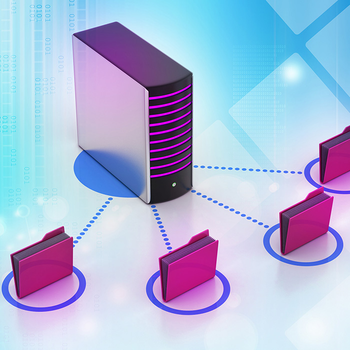 file folders connected to server