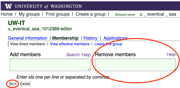 """Remove members"" field in UW Groups interface"