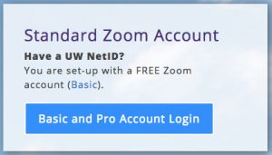 Standard Zoom Account Basic and Pro Account Login