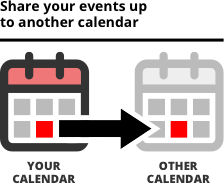 Share events to another calendar