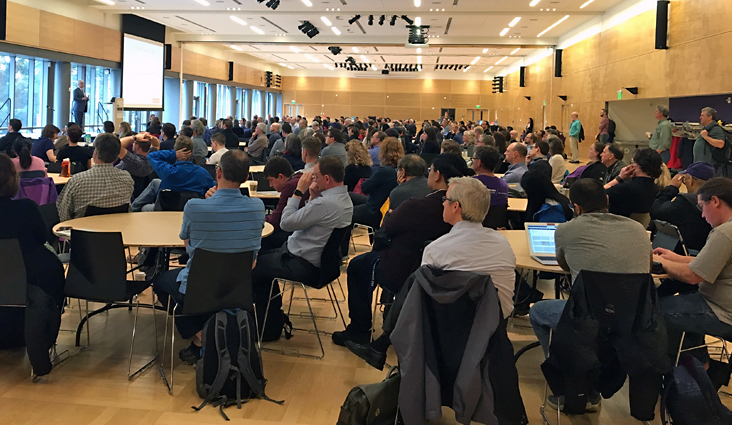 A room of people at a previous TechConnect conference.